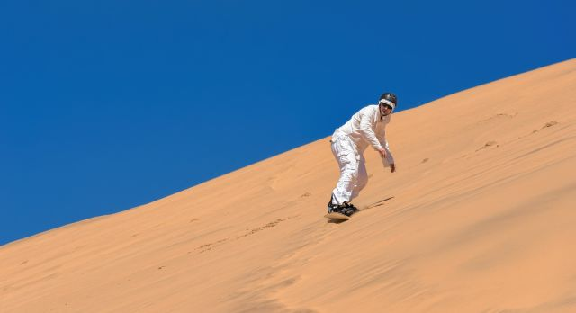 Dune surfing in the Namib