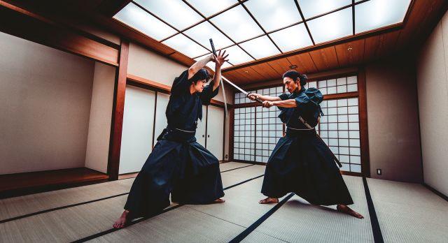 Samurai session in Kyoto