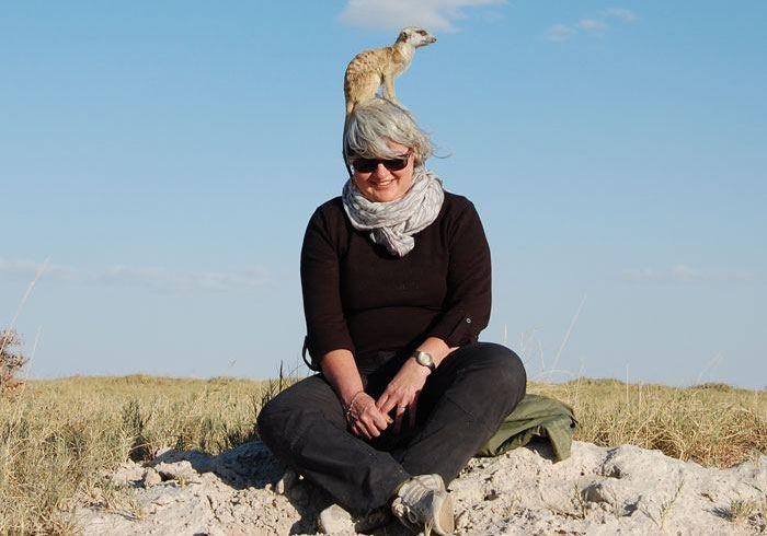 Nicole Schwarz während Ihrer Reise nach Simbabwe und Botswana