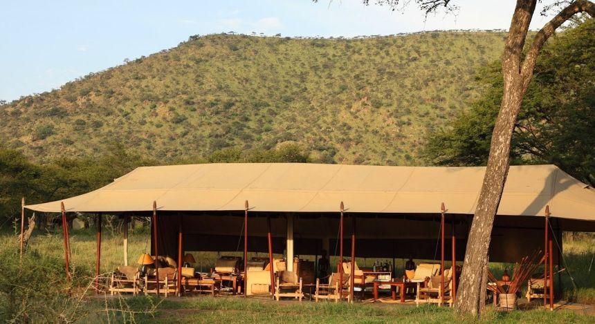 Außenansicht von Safari-Zelt im