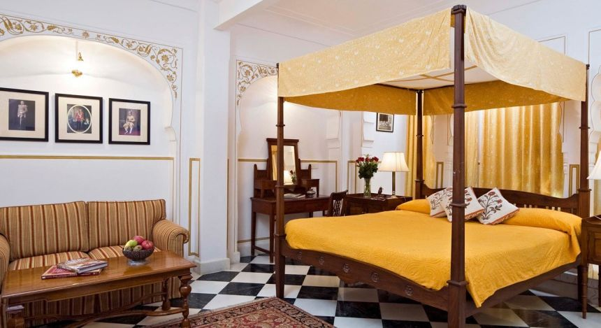 Enchanting Travels - Indien Reisen - Jaipur - Samode Haveli - Schlafzimmer