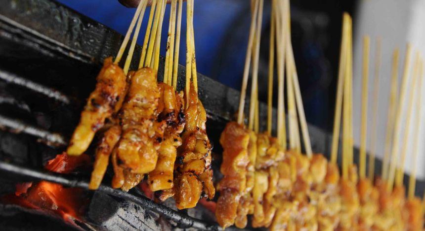 Fleischspieße in Malaysia
