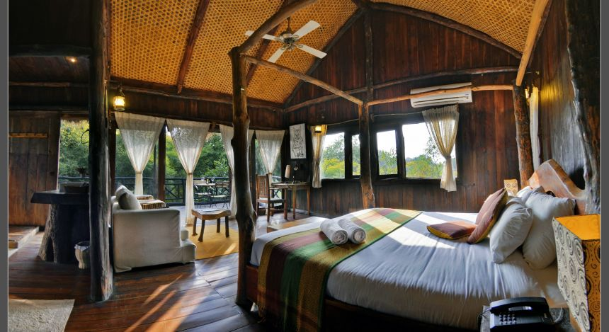 Safari in India: Treehouse hideaway Bandgavgarh - the room