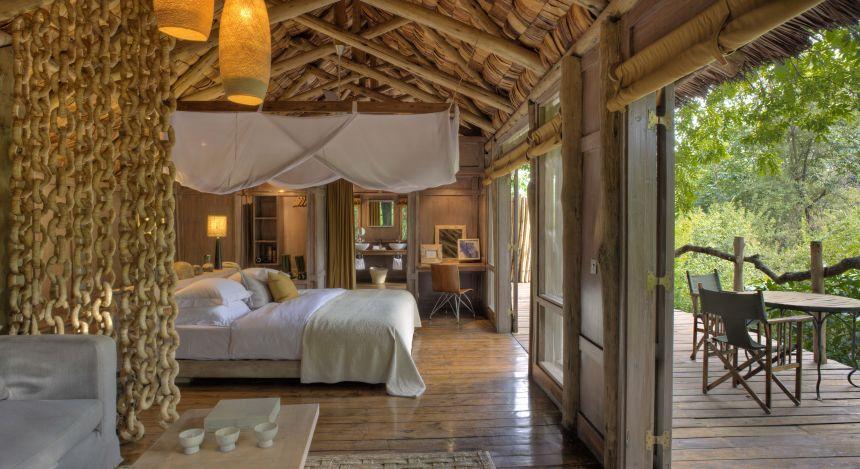Schlafzimmer im Lake Manyara Tree Lodge im Lake Manyara & Ngorongoro, Tansania
