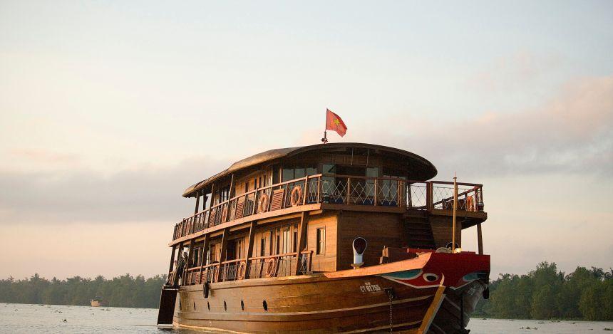 Kreuzfahrtschiff MS Lewis durch das Mekong-Delta