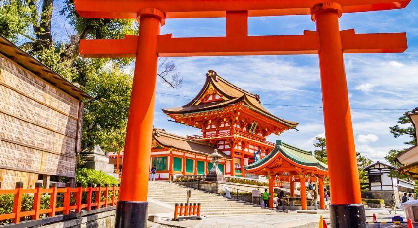 The Fushimi Inara shrine in Kyoto