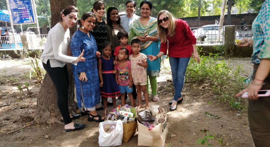 Our offices in India are involved in the Ugly Indian project, working to clean and freshen up nearby streets and parks.