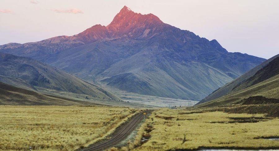 Zugstrecke von Puno nach Cusco