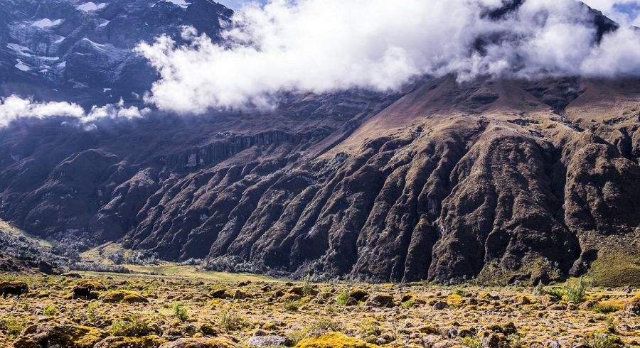 Enchanting Travels Ecuador Tours Riobamba Mossy volcanic Andean landscape in afternoon light near El Altar volcano in Riobamba region