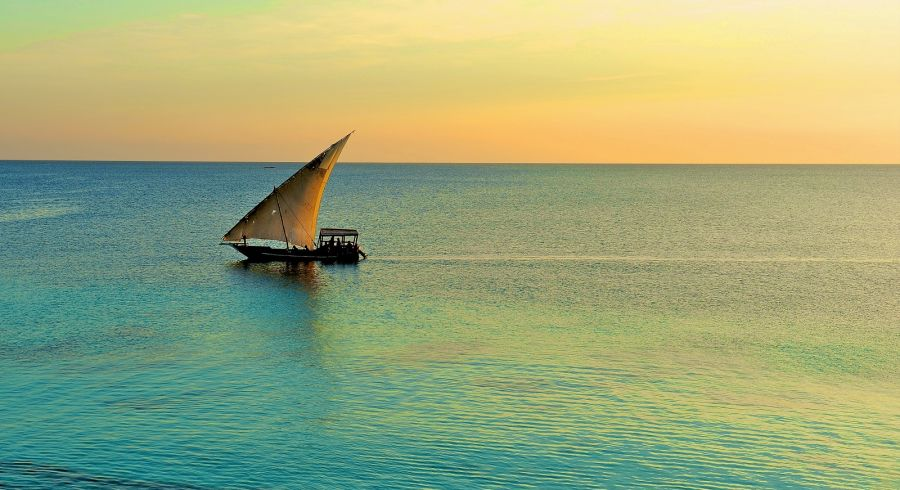 Sunset dhow boat cruise in Zanzibar