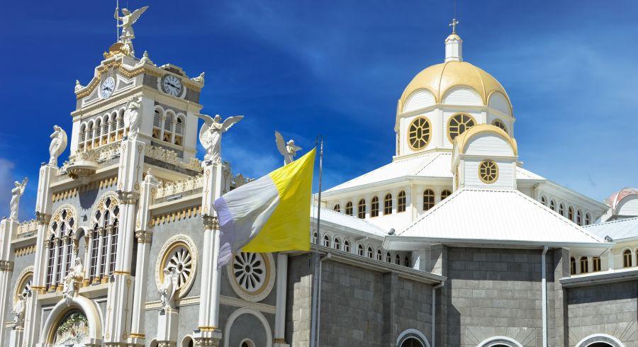 The Basilica de Nuestra Senora de los Angeles in the city of Cartago, built in 1639, Costa Rica.