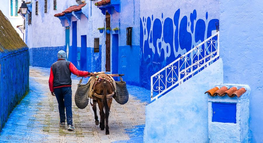 Things to do in Morocco Enchanting Travels Morocco Tours Street life in the blue city of Chefchaouen.
