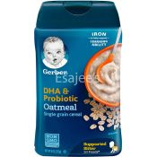 Gerber Dha & Probiotic Oatmeal Baby Cereal