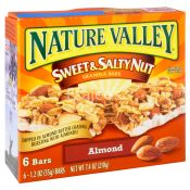Nature Valley Sweet & Salty Nut Granola Bars Almond 6/ct 210g