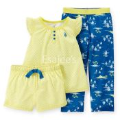 Carters Girls Jersey Sleeper Pajamas 3piece