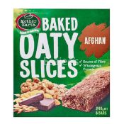 Mother Earth Baked Oaty Slices Bar Kiwi Afghan Slice