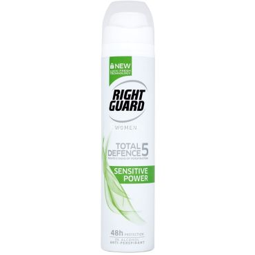 Right Gurad Body Spray Total Defence 5 Sensitive Power Women