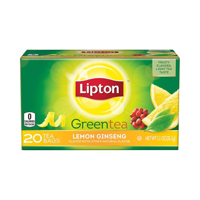 Lipton Lemon Ginseng Green Tea