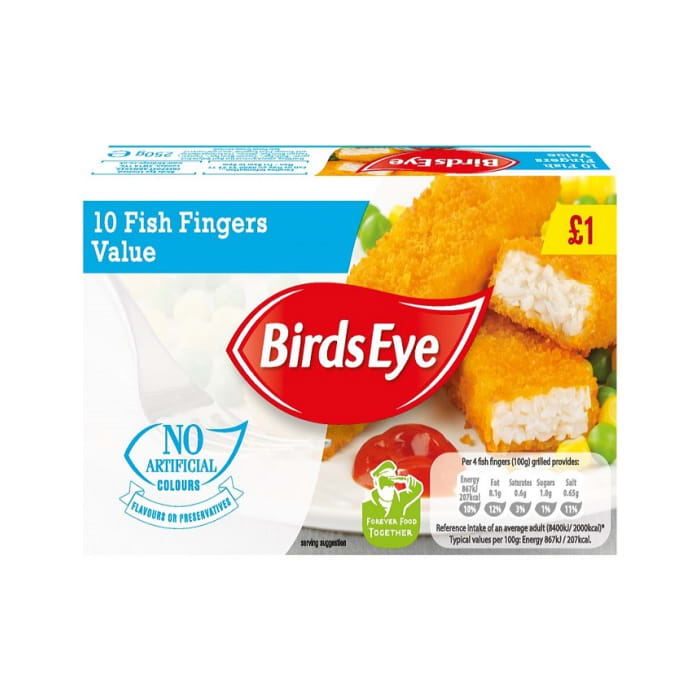 Birds Eye 10 Fish Fingers Value