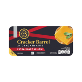 Cracker Barrel 24 Cracker Cuts Extra Sharp Yellow Cheddar Cheese Cuts 198 Grams