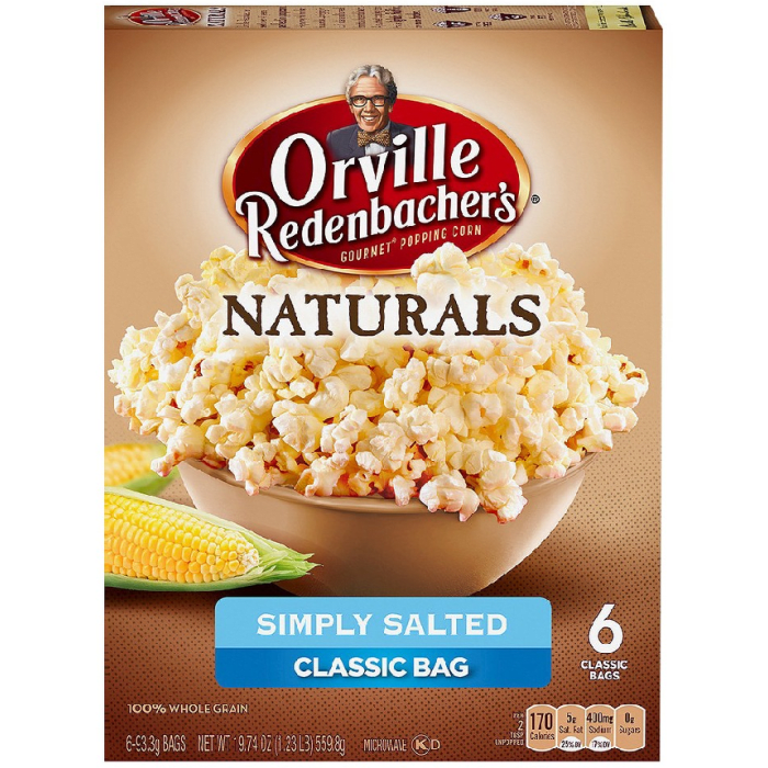 Orville Redenbacher's Simply Salted Microwave Popcorn 6 Classic Bags 559.8 Grams