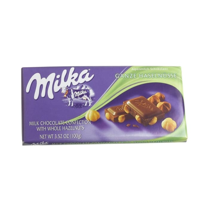 Milka Milk Chocolate With Whole Hazelnuts