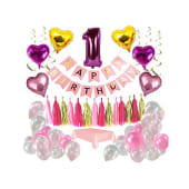 Happy Birthday Hanging Decoration Paper Balloons 3/ct
