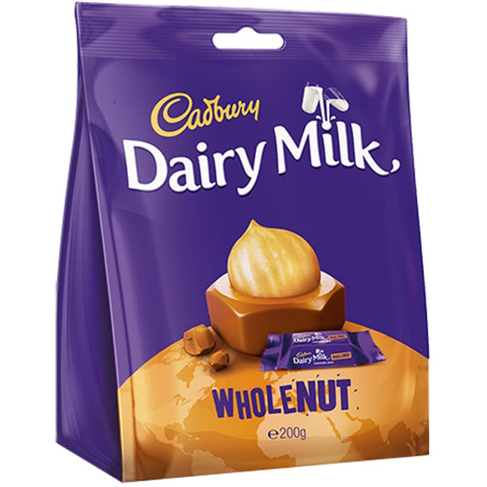 Cadbury Dairy Milk Whole Nut Snacks