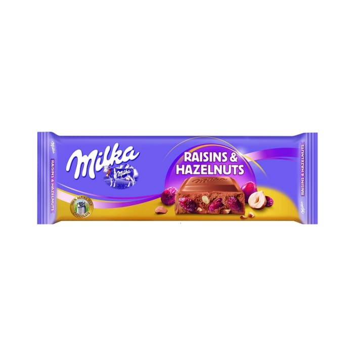 Milka Chocolate Raisins & Hazelnut