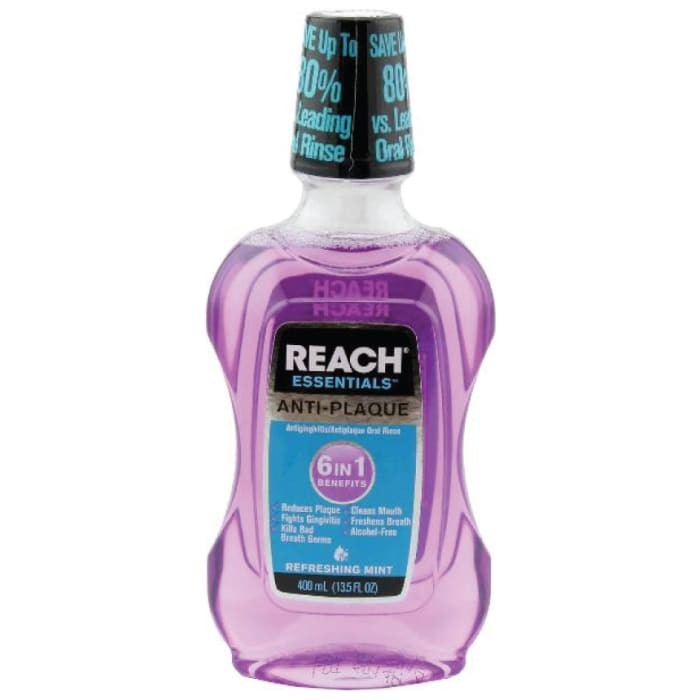 Reach Essentials Anti Plaque Oral Rinse 6 In 1 Benefits Refreshing Mint