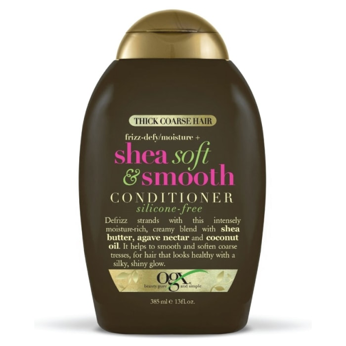 OGX Silicone-Free Thick Coarse Hair Frizz-Defy/Moisture + Shea Soft & Smooth Conditioner