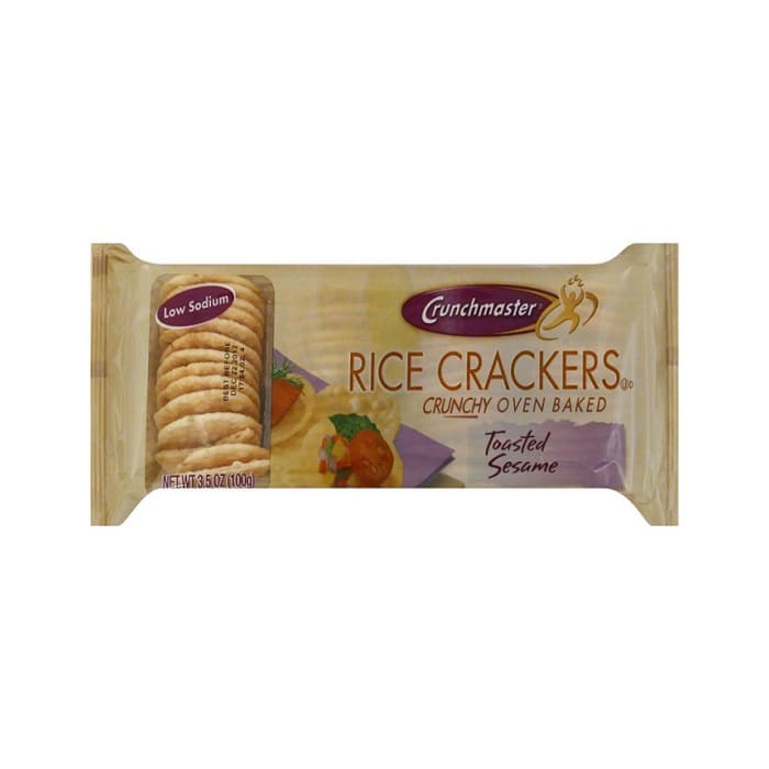 Crunchmaster Rice Crackers Toasted Sesame Crunchy Oven Baked