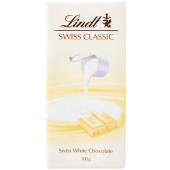 Lindt Swiss Classic Milk White Chocolate Bar