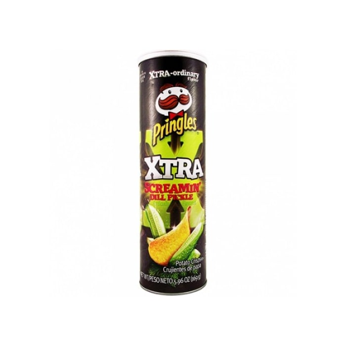 Pringles  Xtra Screaming Dill Pickle Chips