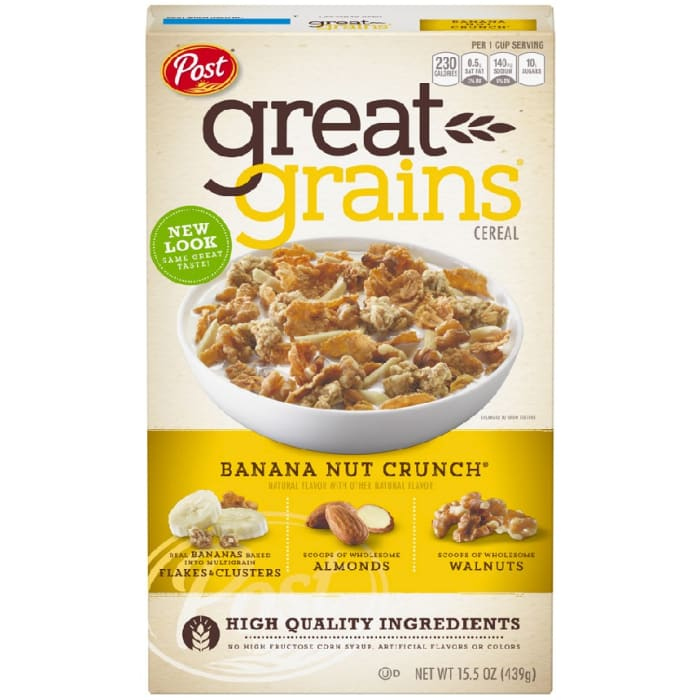 Post Selects Banana Nut Crunch Cereal
