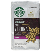 Starbucks Decaf Caffe Verona Dark Decaffeinated Ground Coffee