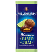 Millennium Mousse Dark Chocolate with Lime & Jam 135 Grams