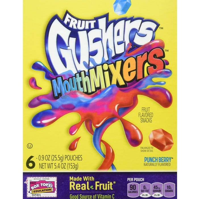 Fruit Gushers Fruit Flavored Snacks Mouth Mixers Punch Berry