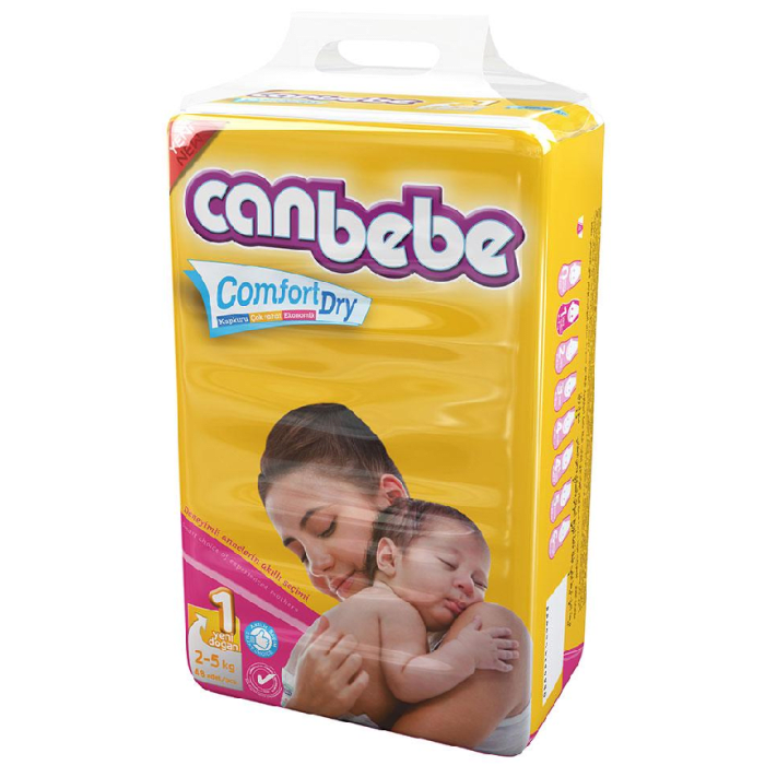 Canbebe New Born Diapers Size 1 - 48 Pieces