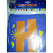 Happy Birthday Letter Banner Blue 7/Ft