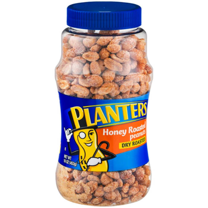 Planters Dry Roasted Honey Roasted Peanuts Bottle
