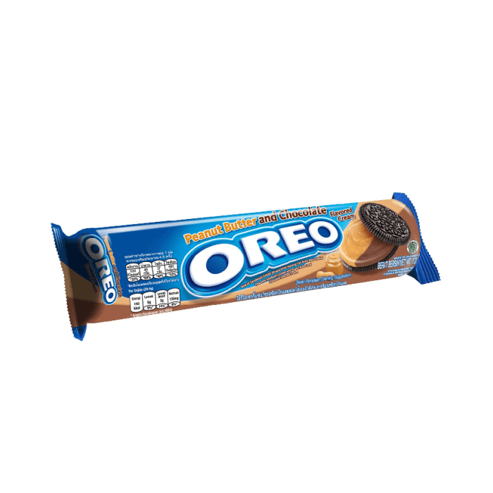 Oreo Peanut Butter and Chocolate Flavored Cream Cookies