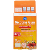 Kroger Nicotine Fruit Gum 4mg 20 Pieces