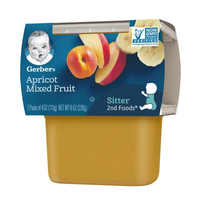 Gerber Apricot Mixed Fruit Baby Pudding
