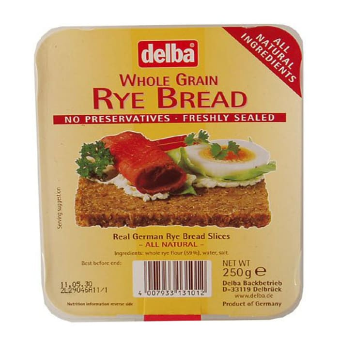 Delba Whole Grain Rye Bread