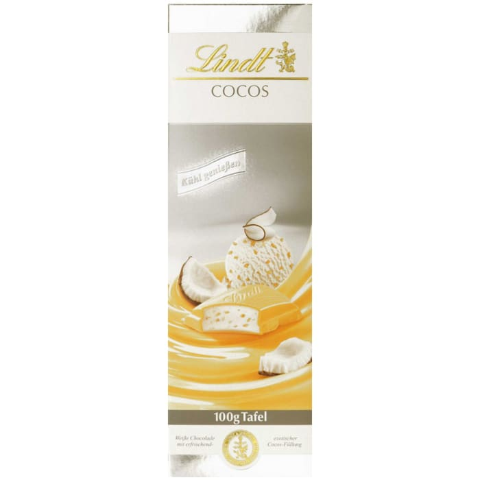 Lindt Ice Coconut White Chocolate Bar