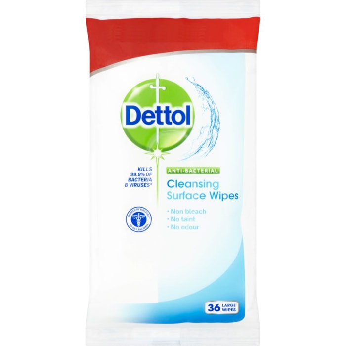Dettol Anti Bacterial Cleansing Surface Wipes