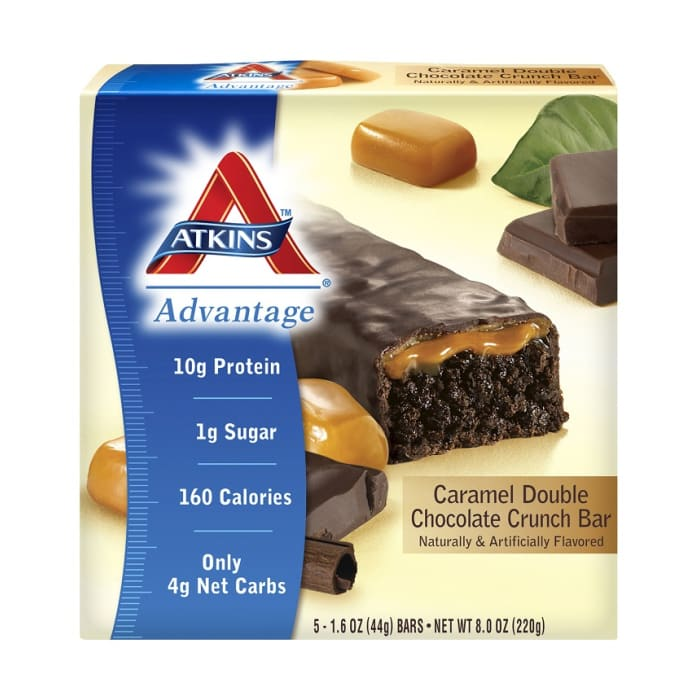 Atkins Bars Double Chocolate Crunch Caramel Protein Bar