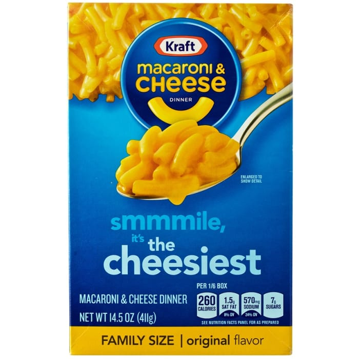 Kraft Macaroni & Cheese Dinner Family Size Original