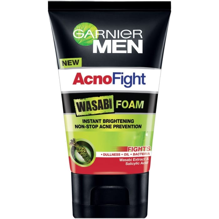 Garnier  Acnofight Wasabi Foam Instant Brightening Non-stop Acne Prevention
